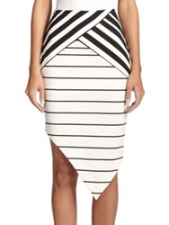 Bec And Bridge Zodiac Asymmetrical Skirt Stripe
