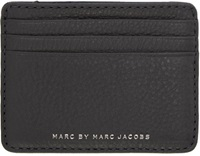 Marc By Marc Jacobs Greu And Navy Leather Card Holder