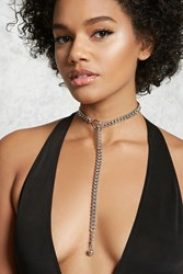 Forever 21 Chain Link Lariat Necklace Silver