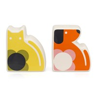 Orla Kiely '70S Flower Cat And Dog Salt And Pepper Shakers