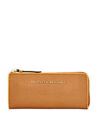 Dooney And Bourke Claremont Leather Wallet Tan