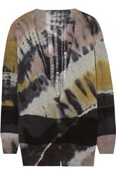 Raquel Allegra Tie Dyed Wool And Cashmere Blend Cardigan