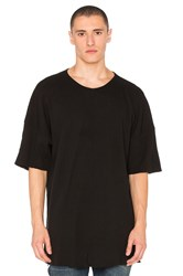 Daniel Patrick Oversized Thermal Tee Black
