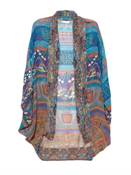 Camilla Braided Nation Silk Cape Cardigan