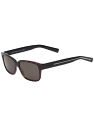 Christian Dior Dior Homme 'Blacktie' Two Tone Sunglasses Brown