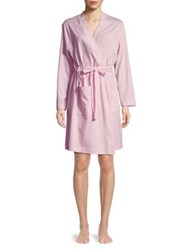Lord And Taylor Plus Shawl Collar Cotton Robe Pink Cloud