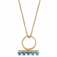 Lmj Summer Nights Multistone Convertible Ring And Pendant Gold