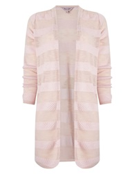 Phase Eight Chloe Self Stripe Cardigan Pink
