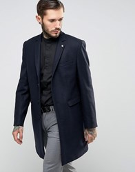 Noose And Monkey Overcoat Navy