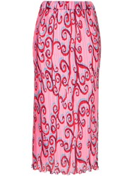 Romance Was Born Psychedelic Vine Skirt Pink