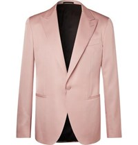 Berluti Dusky Pink Slim Fit Wool Blend Suit Jacket