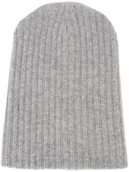 The Elder Statesman Cashmere Summer Cap Grey