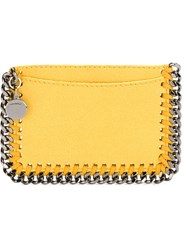 Stella Mccartney 'Falabella' Card Holder Yellow And Orange