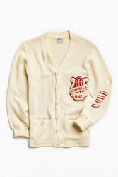Urban Outfitters Vintage Varsity A Cappella Bnc Cardigan Cream