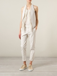 Brunello Cucinelli Ostrich Feather Waistcoat Nude And Neutrals