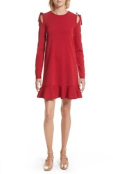 Red Valentino Women's Bow Knit Dress Lacca
