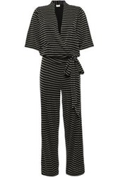 By Malene Birger Woman Wrap Effect Jersey Jumpsuit Black