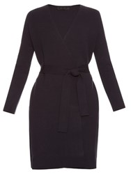 The Row Carco Belted Coat Dark Navy