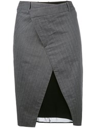 A.F.Vandevorst Superstar Skirt Women Silk Cotton 42 Grey
