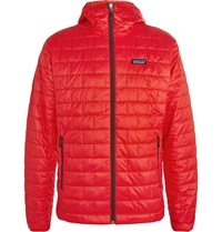 Patagonia Nano Puff Hooded Quilted Shell Jacket Red
