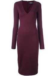 Dsquared2 Fitted Long Sleeved Dress