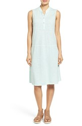Women's Eileen Fisher Stand Collar A Line Shift Dress