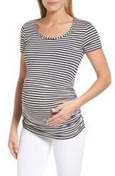Isabella Oliver Jenna Maternity Top Navy Off White