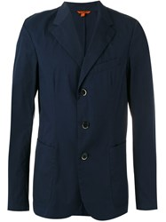 Barena Three Button Blazer Blue