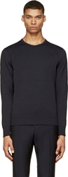 Calvin Klein Navy Open Knit Detail Sweater