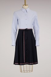 Thom Browne Belted Shirt Dress Navy