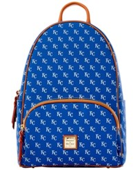 Dooney And Bourke Kansas City Royals Signature Backpack Blue