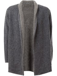 The Elder Statesman Open Front Cardigan Grey