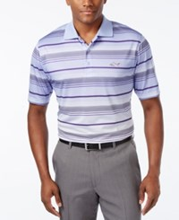 Greg Norman For Tasso Elba Men's Striped Golf Polo Only At Macy's Peri Gloss