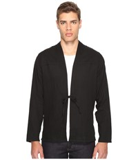 Naked And Famous Kimono Shirt Slub Double Gauze Black