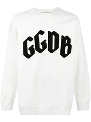Golden Goose Deluxe Brand Applique Logo Sweatshirt White