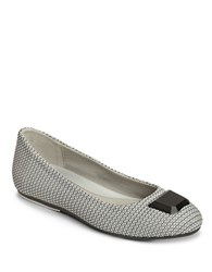 Aerosoles Spin Off Woven Ballet Flats Black White
