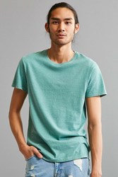 Urban Outfitters Uo Standard Fit Overdyed Heather Tee Turquoise