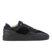 Android Homme Men's Omega Quilted Velvet Low Top Trainers Black