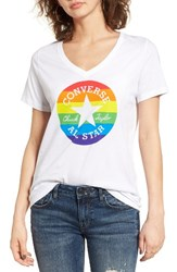Converse Women's Pride Rainbow Chuck Patch Tee White