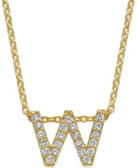 Giani Bernini Cubic Zirconia Initial Pendant Necklace Gold W