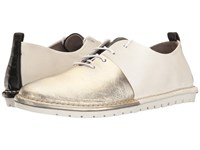 Marsell Split Two Tone Oxford White Gold Women's Shoes