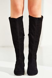 Urban Outfitters Suede High Boot Black