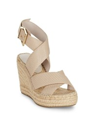 Kenneth Cole Olivia Leather Wedge Shoes Clay