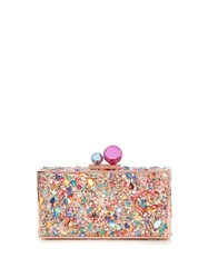 Sophia Webster Clara Crystal Embellished Box Clutch Multi