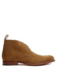 Grenson Marcus Suede Desert Boots Tan