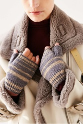 Urban Outfitters Boucle Shortie Fingerless Glove Grey Multi