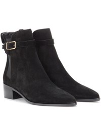 Burberry Whittingham Suede Ankle Boots Black