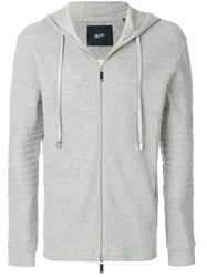 Blood Brother Cage Hoodie Wool Acrylic Grey