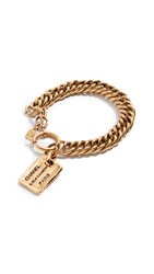 Wgaca What Goes Around Comes Around Chanel Gold Cambon Plate Bracelet
