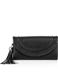 See By Chloe Polly Long Wallet With Flap Black